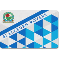 Personalised Blackburn Rovers FC Patterned Rubber Backed Large Floor Mat - 60x90cm