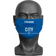 Personalised Cardiff City FC Breathes Adult Face Mask
