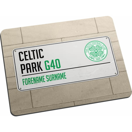 Personalised Celtic FC Street Sign Mouse Mat