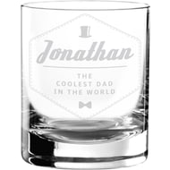 Personalised Hipster Style Coolest Dad Tumbler Glass