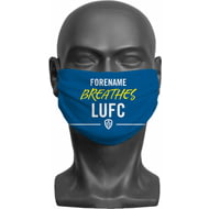 Personalised Leeds United FC Breathes Adult Face Mask