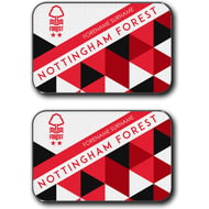 Personalised Nottingham Forest FC Patterned Rear Car Mats