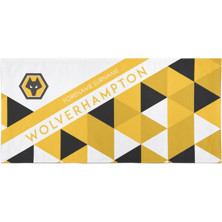 Personalised Wolves FC Bath Towel -  70 x 140cm