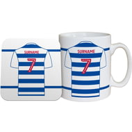 Personalised Reading FC Shirt Mug & Coaster Set