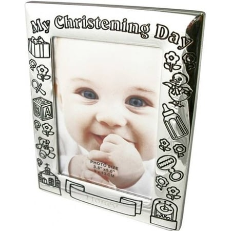 Personalised Silver Plated Christening Frame