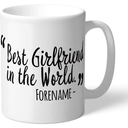 Personalised Swansea City Best Girlfriend In The World Mug