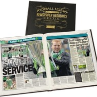 Personalised Celtic Football Newspaper Book - A3 Leather Cover