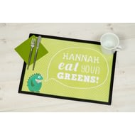 Personalised Eat Your Greens - Laminate Mat