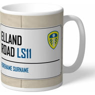 Personalised Leeds United FC Street Sign Mug