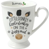 Personalised Little Donkey Marquee Ceramic Mug