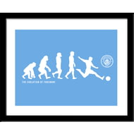 Personalised Manchester City FC Evolution Framed Print