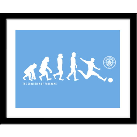 Personalised Manchester City Evolution Framed Print
