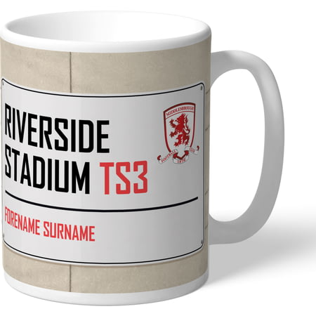 Personalised Middlesbrough FC Street Sign Mug