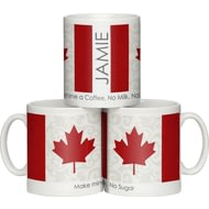 Personalised Shabby Chic Canadian Flag Ceramic Mug