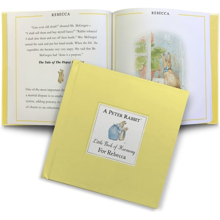 Personalised The Peter Rabbit Little Book Of Harmony Book
