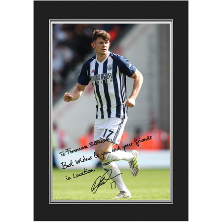Personalised West Bromwich Albion FC Burke Autograph Photo Folder