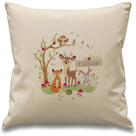 Personalised Woodland Animals Cushion