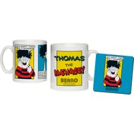 Personalised Beano Classic Comic Strip Problem Solved Ceramic Mug & Coaster