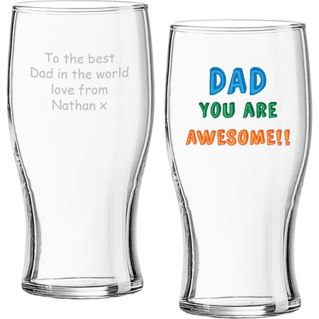 Personalised Dad You Are…Beer Pint Glass