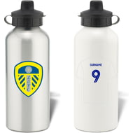 Personalised Leeds United FC Shirt Aluminium Sports Water Bottle