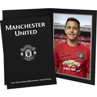 Personalised Manchester United FC Sanchez Autograph Photo Folder