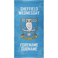 Personalised Sheffield Wednesday FC Crest Design Towel - 80cm X 160cm