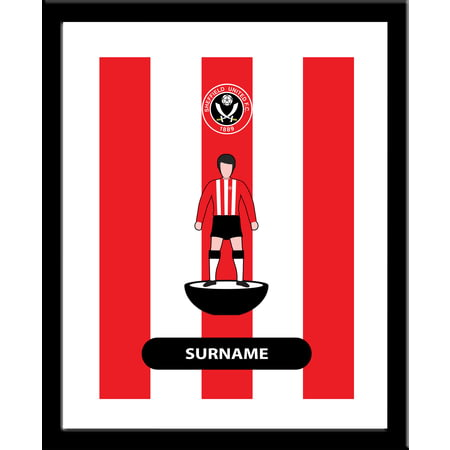 Personalised Sheffield United FC Player Figure Framed Print