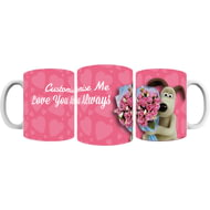 "Personalised Wallace And Gromit ""Be My Valentine"" Mug"