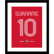 Personalised Arsenal FC Retro Shirt Framed Print