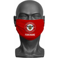 Personalised Brentford FC Crest Adult Face Mask