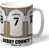 Personalised Derby County Dressing Room Shirts Mug