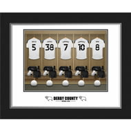 Personalised Derby County Dressing Room Shirts Photo Folder