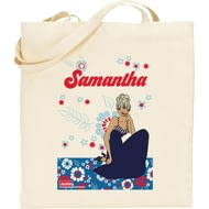Personalised Riviera Floral Tote Bag