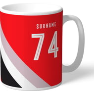 Personalised Sheffield United FC Stripe Mug