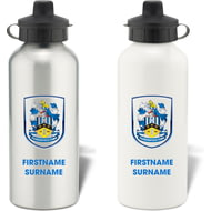 Personalised Huddersfield Town AFC Bold Crest Aluminium Sports Water Bottle