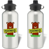 Personalised Kids Bear Aluminium Water Bottle