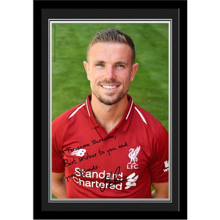 Personalised Liverpool FC Henderson Autograph Photo Framed