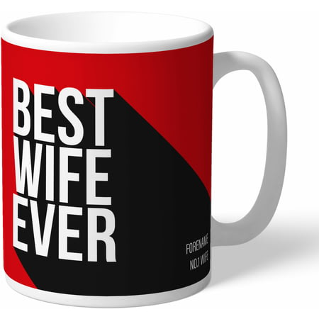 Personalised Manchester United Best Wife Ever Mug
