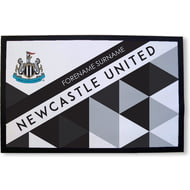 Personalised Newcastle United FC Patterned Rubber Backed Door Mat