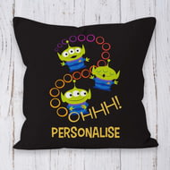 Personalised Toy Story 4 Aliens Ooohh Cushion - 45x45cm