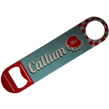 Personalised Retro Personalised Bar Blade Bottle Opener