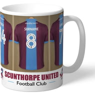 Personalised Scunthorpe United FC Dressing Room Shirts Mug