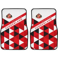 Personalised Sunderland AFC Patterned Front Car Mats