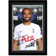 Personalised Tottenham Hotspur Moura Autograph Photo Framed