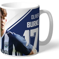 Personalised West Bromwich Albion FC Burke Autograph Mug