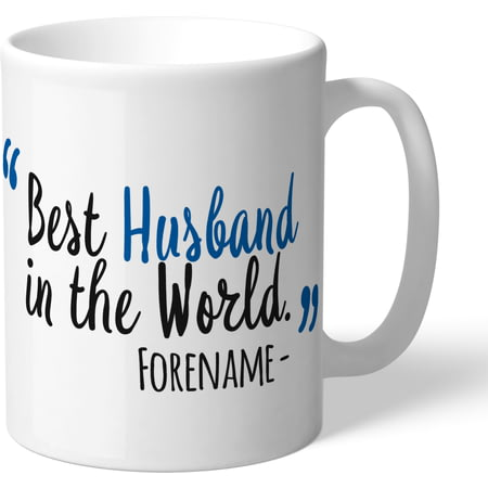 Personalised Cardiff City Best Husband In The World Mug