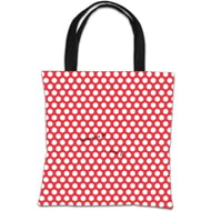 Personalised Disney Valentines Mickey And Minnie Polka Dot Tote Bag
