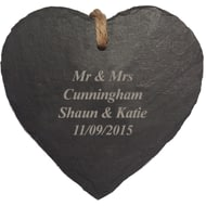 Personalised Engraved Heart Hanging Slate