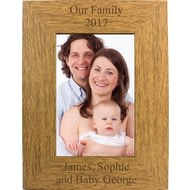 Personalised Engraved Portrait Wooden Photo Frame