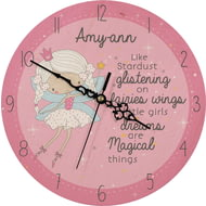 Personalised Fairy Wooden Clock